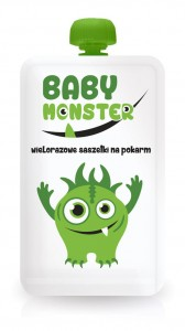 Baby Monster - Saszetka wielorazowa na pokarm 170ml
