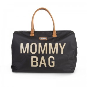 Childhome -  Torba Mommy Bag - Czarno-Złota